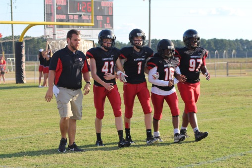 Red Fox captains of the night. Captains were #41, #1, #16, and #97